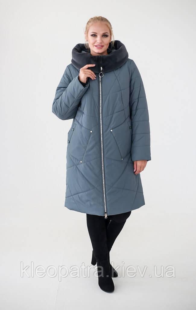 Женское зимнее пальто Бейла до 62 размера