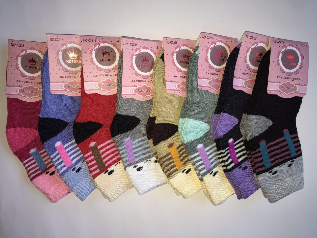 Детские махровые носки Корона бамбук Р.р 21-26 S