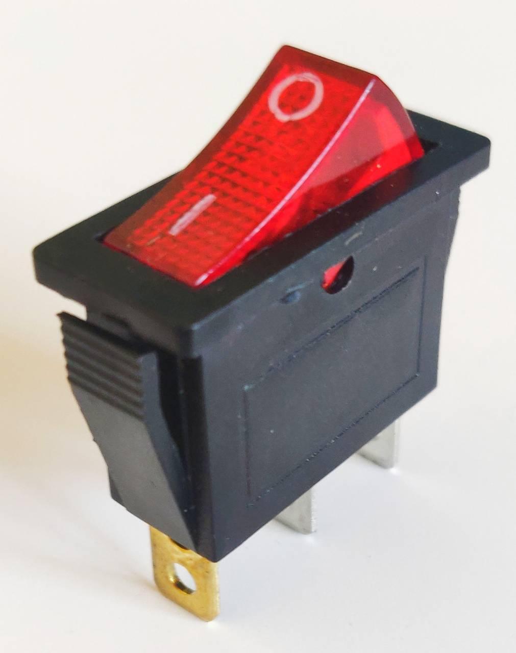 Клавишный переключатель IRS-101-3C on-off красный