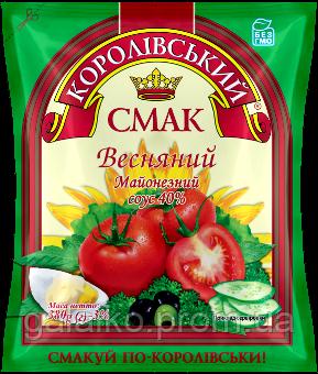 """Майонез 40% Весняний ф/пак 380гр (20) """"Корол Смак"""""""