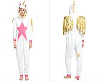 Пижама Кигуруми Белый Единорог с крыльями L (на рост 168-177)