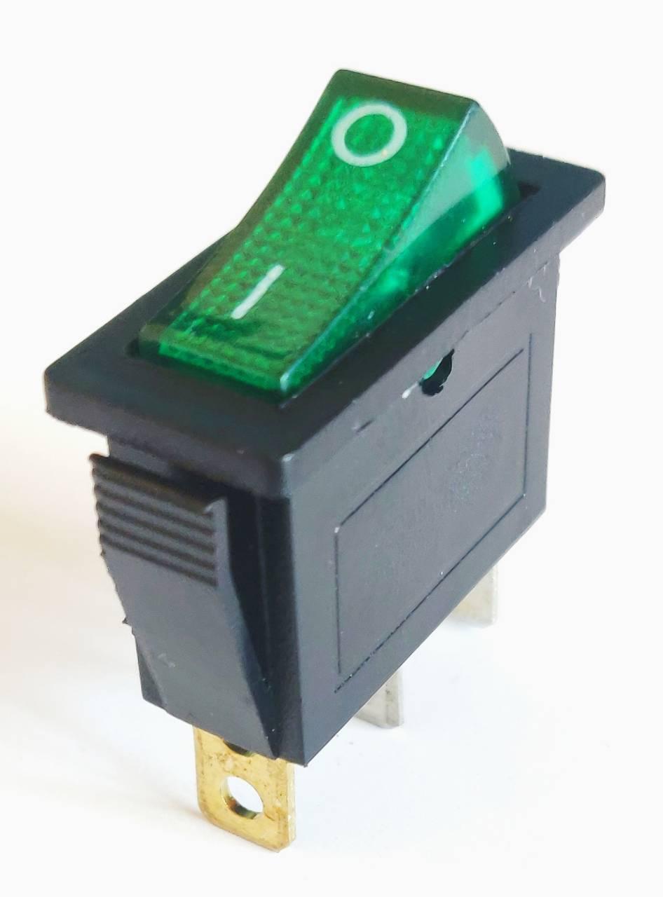 Клавишный переключатель IRS-101-3C on-off зеленый