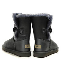 "Женские UGG Bailey Button ""Leather Grey"", фото 1"