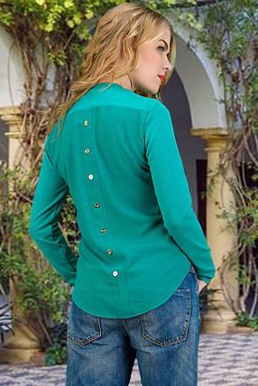 Модная кофта из ангоры с шифоновой спиной размер 42-44,46-48, фото 2