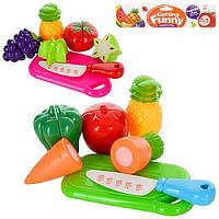 Овочі та фрукти 6105/6106 (1615803) 2 вида, діляться навпіл, дошка, ніж, в пакеті 17,5*5*21,5 см