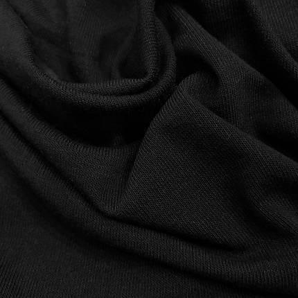 Трикотаж ангора тонка чорна, фото 2
