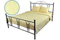 Комплект постельного белья Руно двуспальный Beige сатин страйп арт.655.50ДУ_Beige