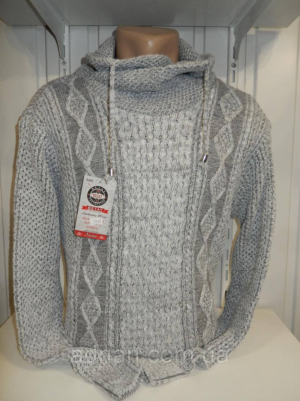 Свитер зимний, шаль BEKTAS модель №19400 002/ купить оптом свитер зимний