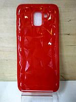 Cиликоновый красный чехол Призма Samsung Galaxy J8 2018 (J810)
