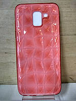 Cиликоновый розовый чехол Призма Samsung Galaxy J8 2018 (J810)