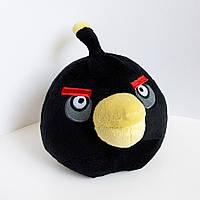 Мягкая игрушка Angry Birds Птица Бомб  большая 28см (608)