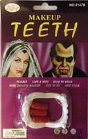 Зубы клыки белые детские Вампира с капсулами