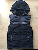 Демисезонная жилетка на мальчика черно-серая, фото 1