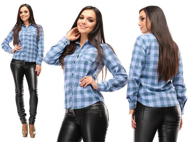 Рубашка женская голубая, фото 2