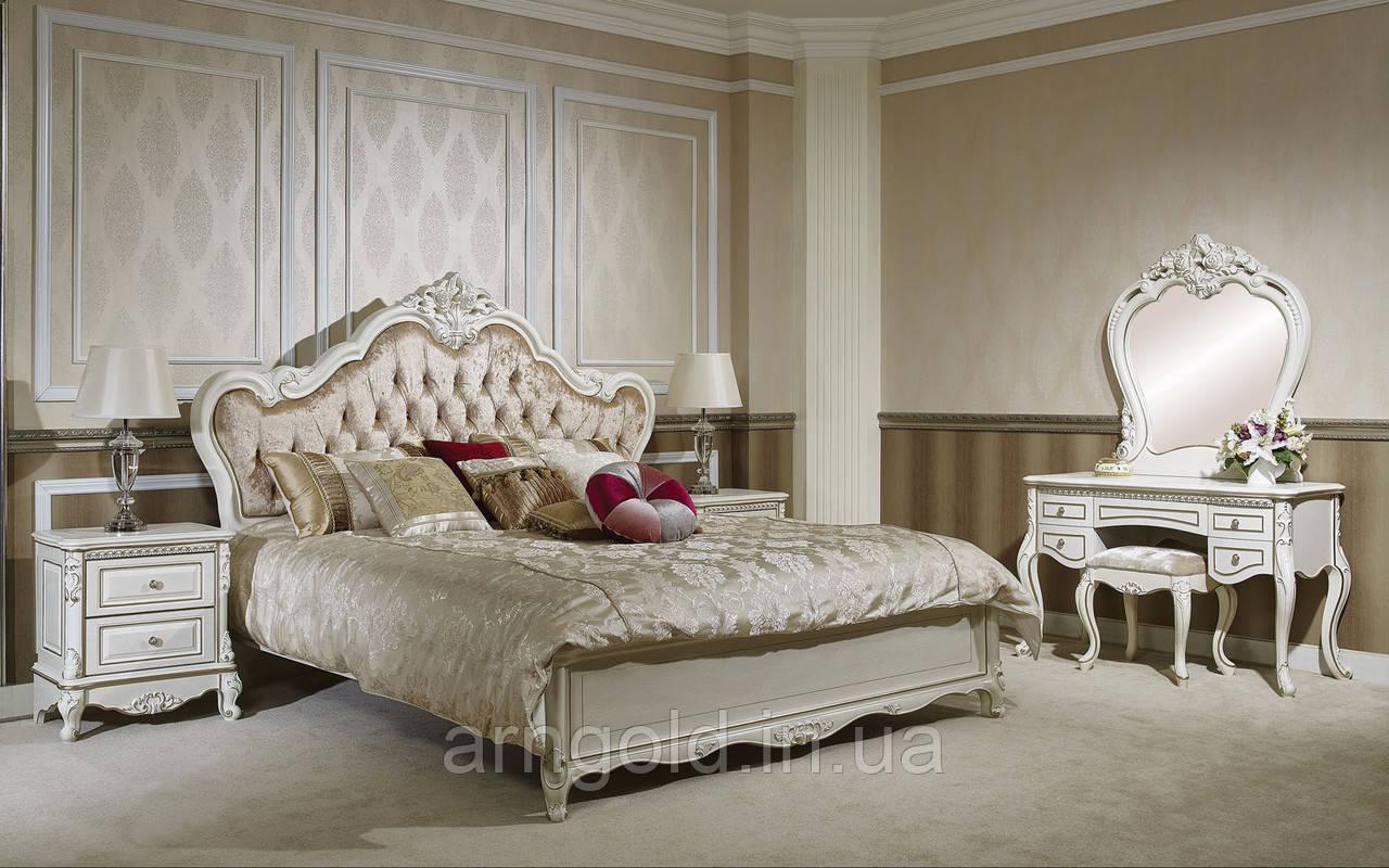 Спальня Кармен (кровать, 2 тумбочки, туал стол, пуф)