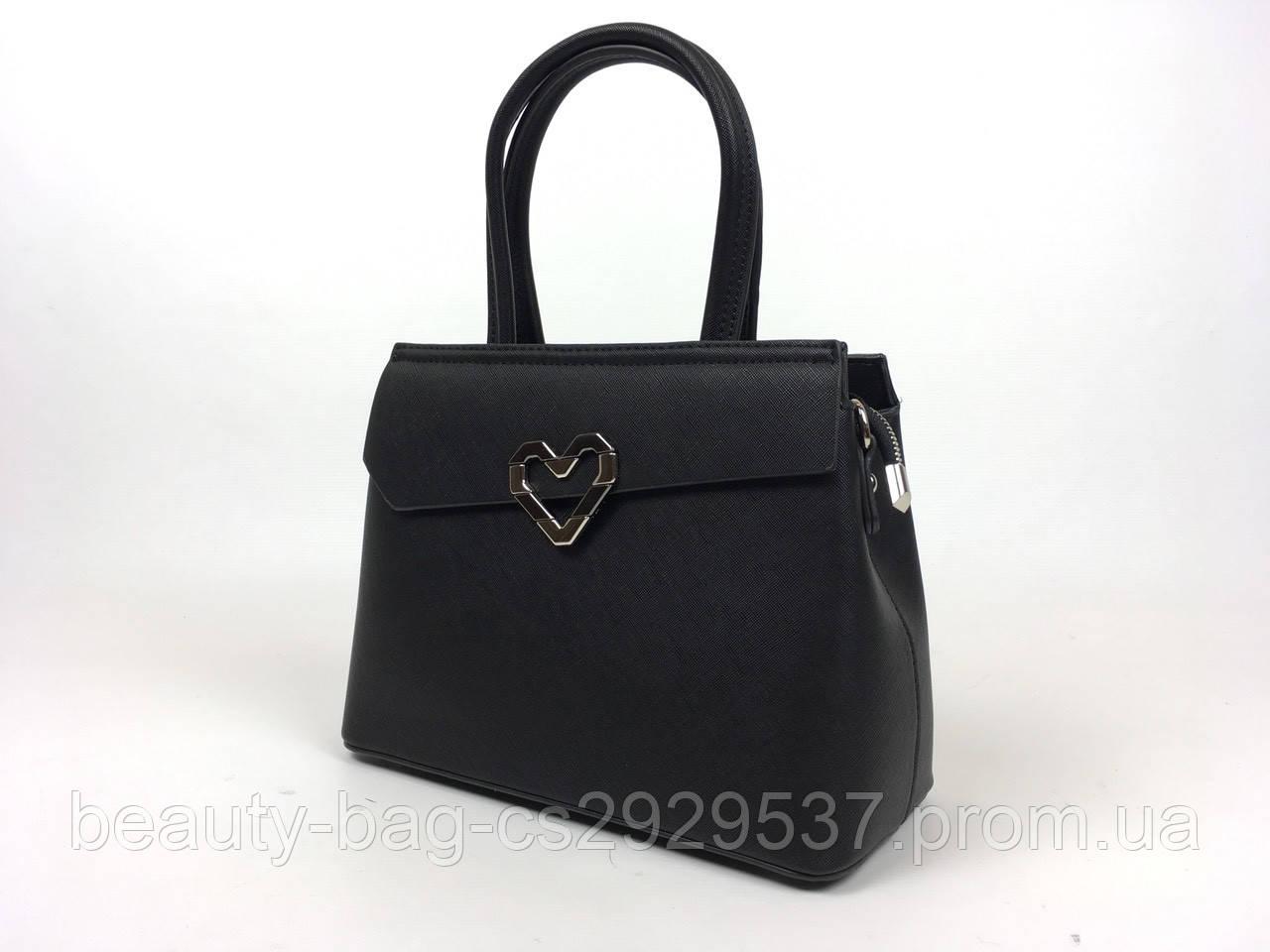 Сумка женская каркасная 6533 Noir Black черная