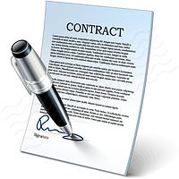 Заключение договоров на сервисное обслуживание.
