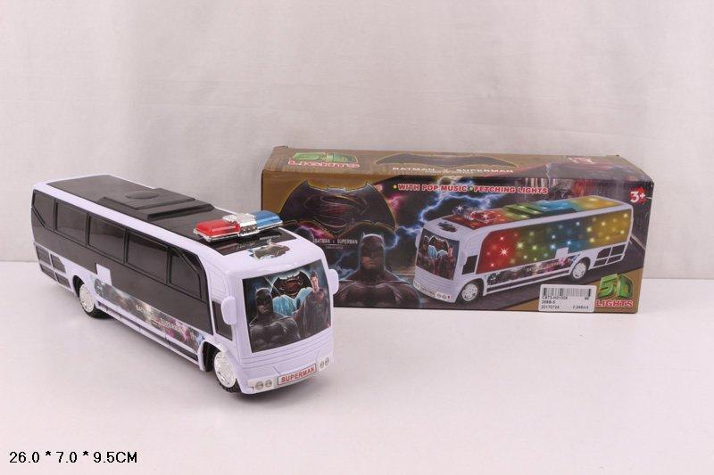 Муз. автобус 368B-5 (96шт/2) батар., світ., муз., в короб. 26*7*9,5 см