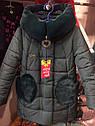"""Хит сезона! Новинка! Детское зимнее пальто с мутоном """"Сердечки"""" Размеры 32- 38, фото 7"""