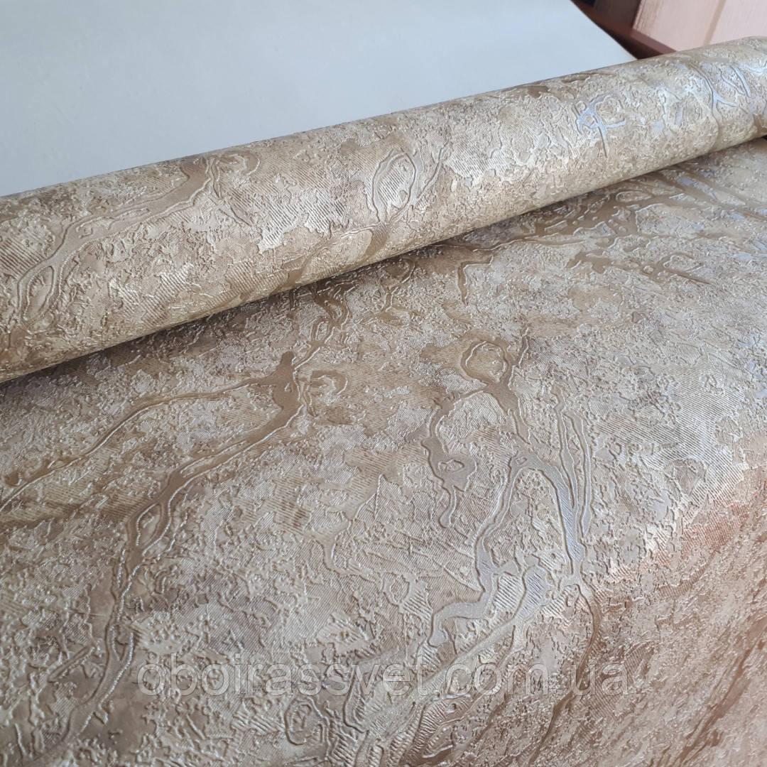 Обои Карамболь 2 8575-04 винил горячего тиснения на флизелине,шелкография 15 м,ширина 1.06=5 полос по 3 метра