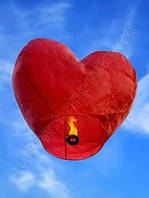 Небесный фонарик Сердце Премиум качество (летающий горящий шар,светящийся шарик)