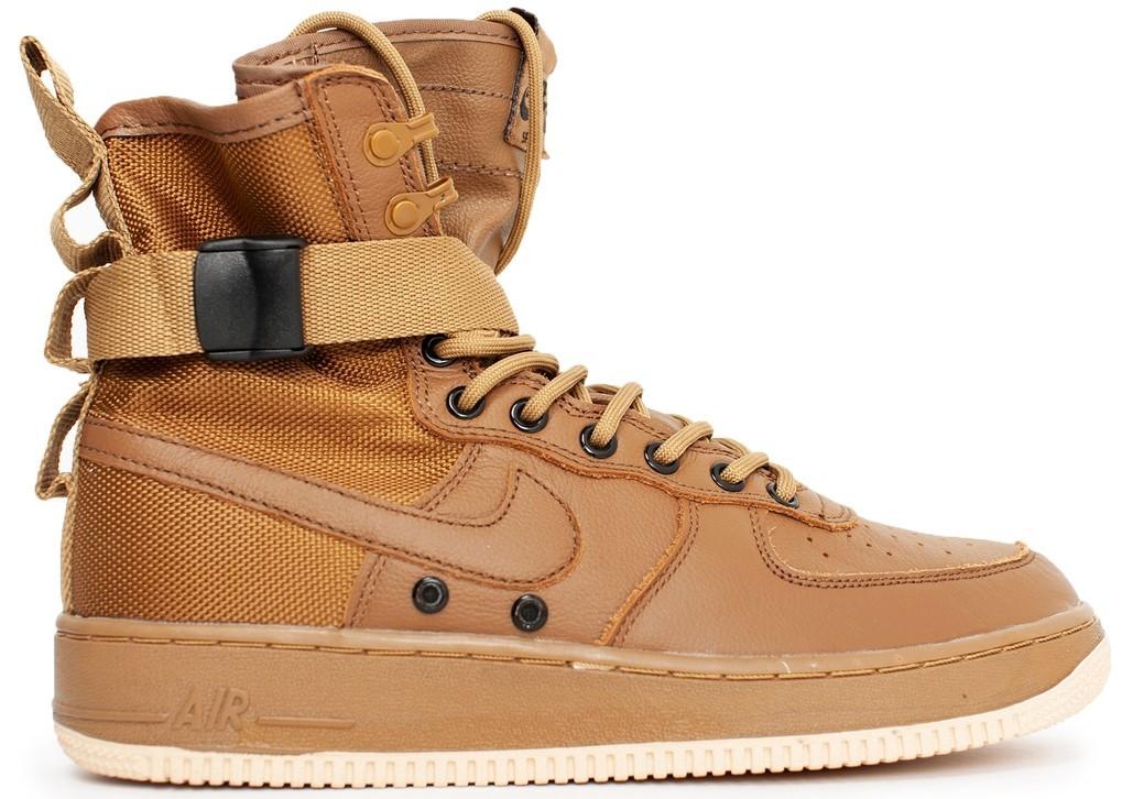 Мужские кроссовки Nike Special Field Air Force 1 'Brown' (Найк) коричневые