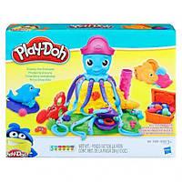Оригинал Play-Doh набор пластилина Веселый Осьминог Cranky The Octopus Set E0800