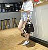 Черный женский мини рюкзак. Женский рюкзачок маленький. - Фото
