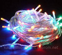 Новогодняя световая гирлянда LED на 100 ламп на 6,5 метров