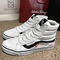 Ботинки мужские Vans Sk8 Hi Chex Skate Shoes .  белые