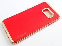 Протиударний чохол Motomo для Samsung Galaxy S6 Edge Plus g928 червоний з золотим