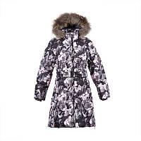 Зимнее пальто-пуховик для девочки 7,9 лет р. 122,134 YASMINE ТМ HUPPA 12020055-81020
