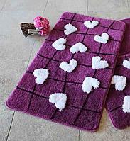 Коврик для ванной 60х100  Chilai Home Kalbim Purple