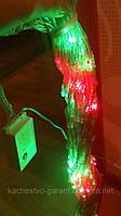 Светодиодная гирлянда занавес 2х1,5м, Мульти  (Плей лайт), 360 LED, Прозрачный провод