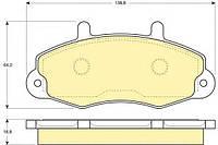 """Передние тормозные колодки (комплект) колесо 14"""" Ford Transit 1994-2000 GIRLING 6110844"""
