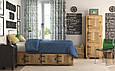 Ткань с тефлоновой пропиткой однотонная синяя Турция ширина 180 см Ткани для штор на отрез, фото 3