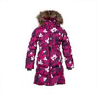 Зимнее пальто-пуховик для девочки 6-10 лет р. 116, 122, 134, 140 YASMINE ТМ HUPPA 12020055-81063