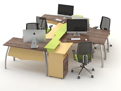 Комплект мебели для персонала серии Прайм композиция №5 ТМ MConcept, фото 2