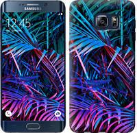 "Чехол на Samsung Galaxy S6 Edge Plus G928 Папоротник под ультрафиолетом ""4069u-189-15853"""