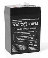 Аккумуляторная батарея LogicPower 6V 5.2 Ah