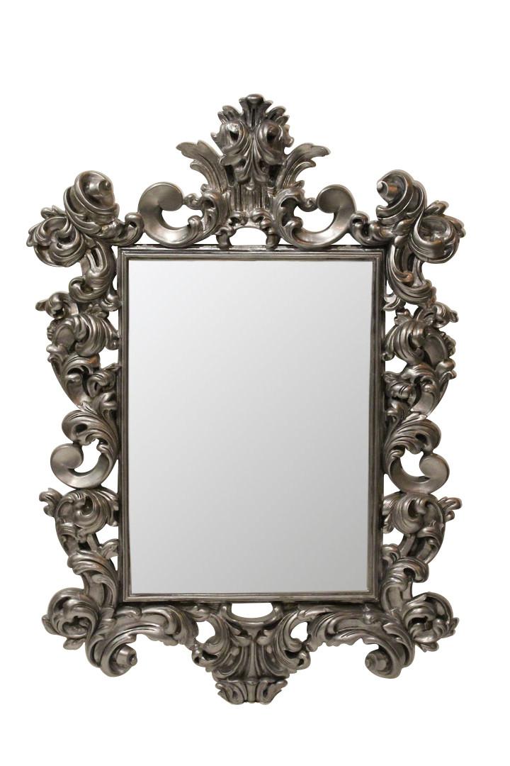 Зеркало в раме Prince «black silver»