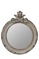 Зеркало в круглой раме  Ar deko rotondo «white vintage»