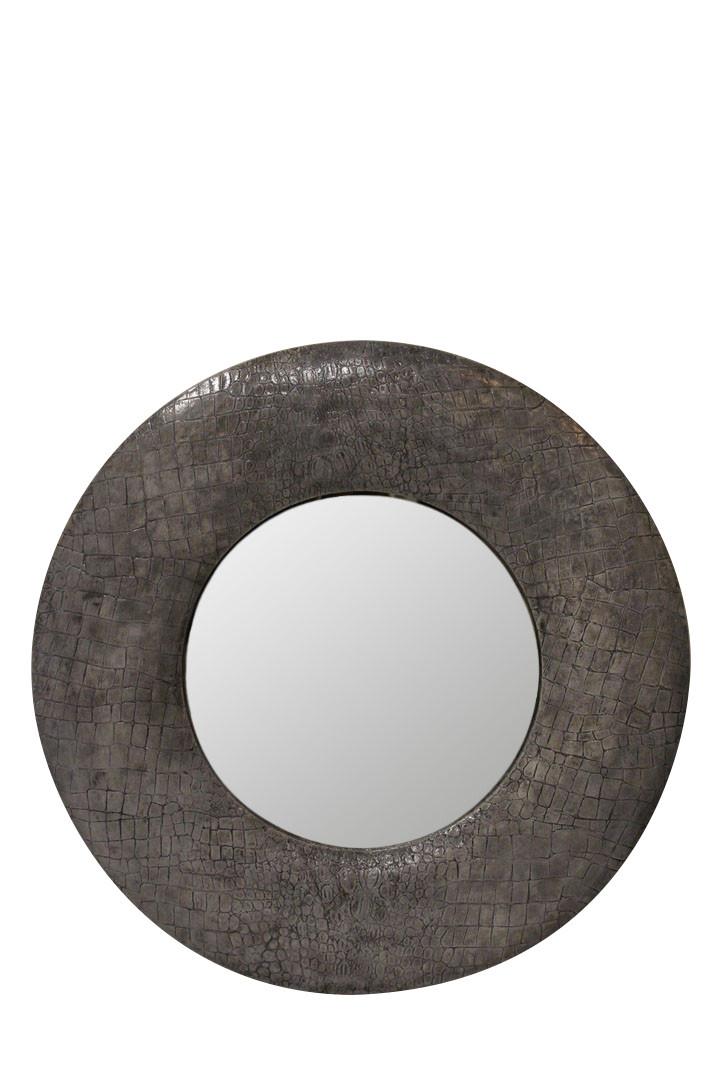 Зеркало в круглой раме CrocoS «white crocos»