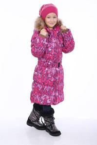 Зимнее пуховое пальто YASMINE для девочки 4, 6, 7 лет р. 104, 116, 122 ТМ HUPPA 12020055-73263