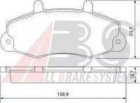 """Передние тормозные колодки (комплект) колесо 14"""" Ford Transit 1994-2000 A.B.S. 36775"""