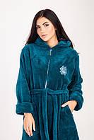 Женский теплый халат с капюшоном. Размеры M, L, XL., фото 1