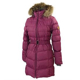 Зимнее пальто-пуховик для девочки 8-12 лет р. 128-152 YASMINE ТМ HUPPA 12020055-80034