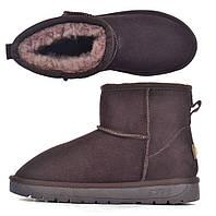 Угги женские натуральные замш на овчине коричневые Natural ugg boots, Коричневый, 36