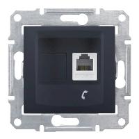 Розетка телефонная одинарная Черный Schneider Sedna (sdn4101170), фото 1