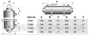 Теплообмінник Pahlen Hi-Flo спіральний HF 40, 40кВт, фото 2